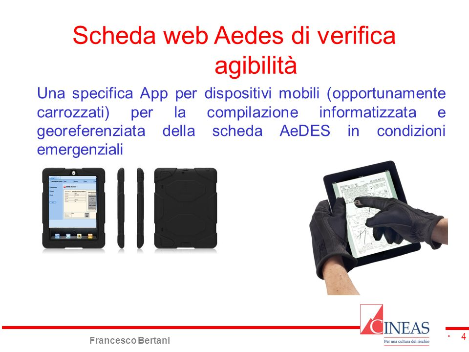 Scheda web Aedes di verifica agibilità