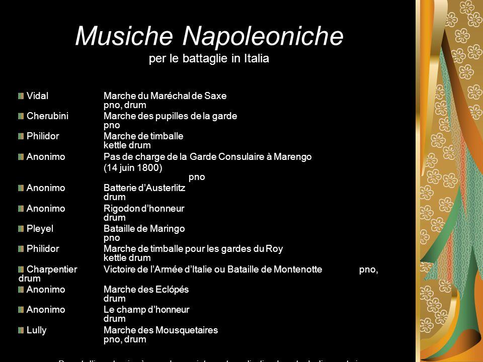 Musiche Napoleoniche per le battaglie in Italia