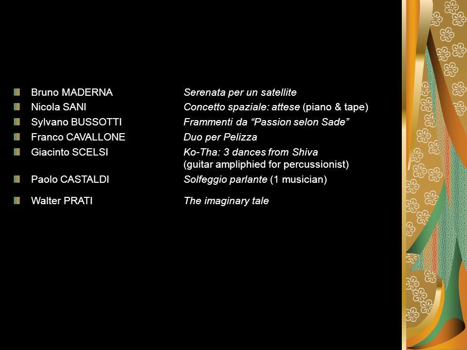 Bruno MADERNA Serenata per un satellite