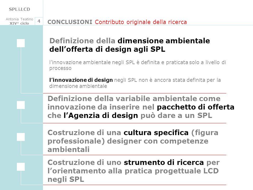 SPL&LCD Antonia Teatino. XIV° ciclo. 4. CONCLUSIONI Contributo originale della ricerca.