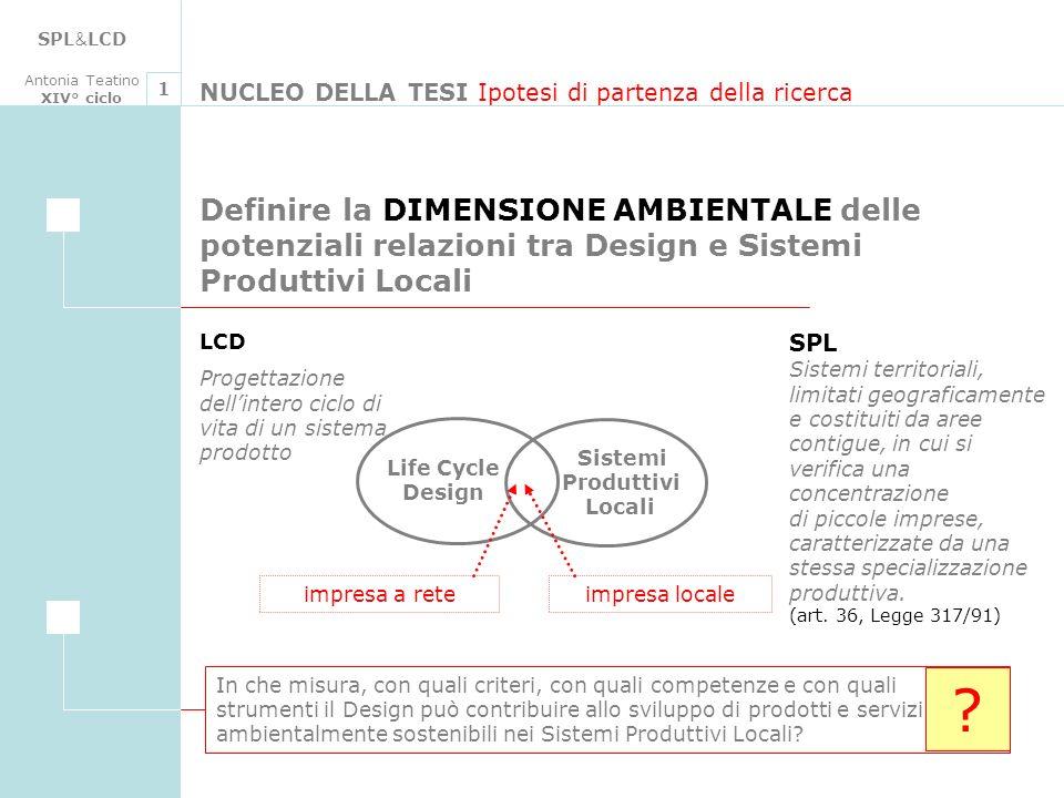 SPL&LCD Antonia Teatino. XIV° ciclo. 1. NUCLEO DELLA TESI Ipotesi di partenza della ricerca.