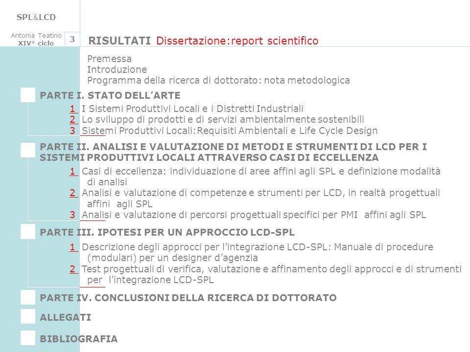 RISULTATI Dissertazione:report scientifico