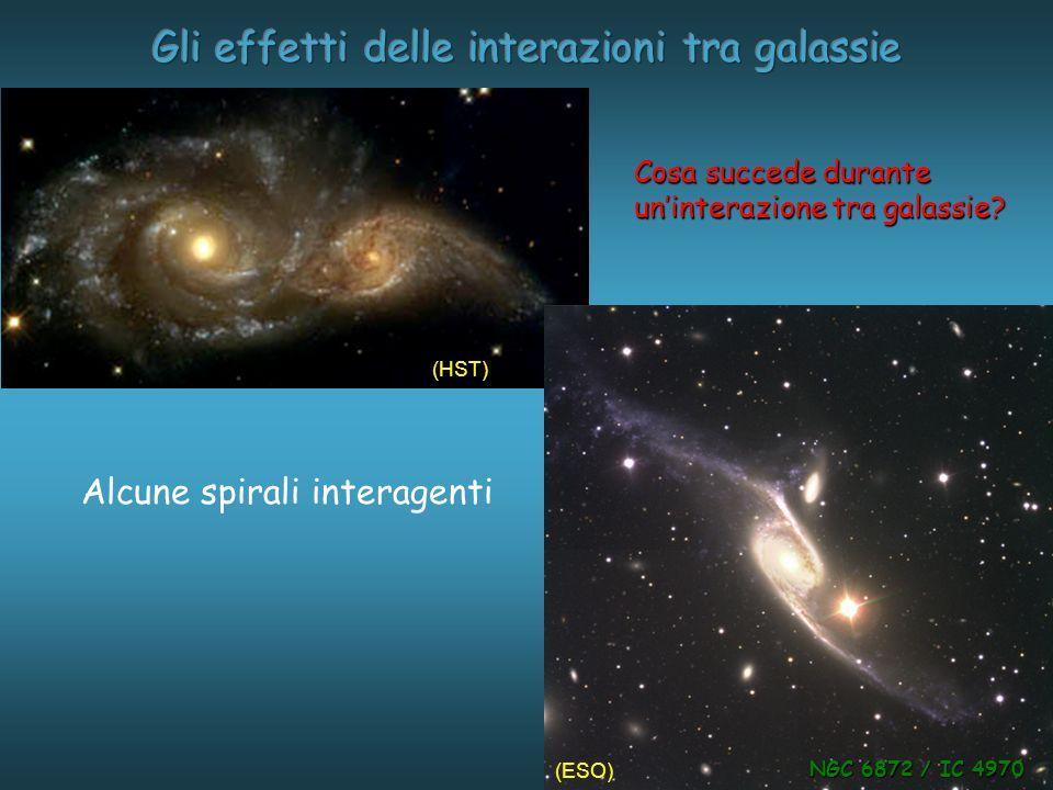 Gli effetti delle interazioni tra galassie