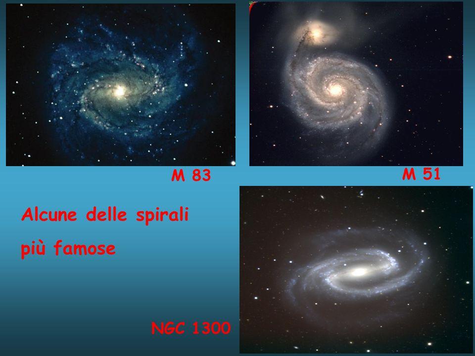 M 83 M 51 Alcune delle spirali più famose NGC 1300