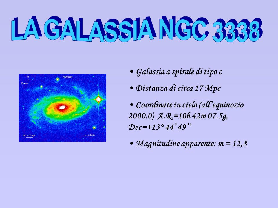 LA GALASSIA NGC 3338 Galassia a spirale di tipo c