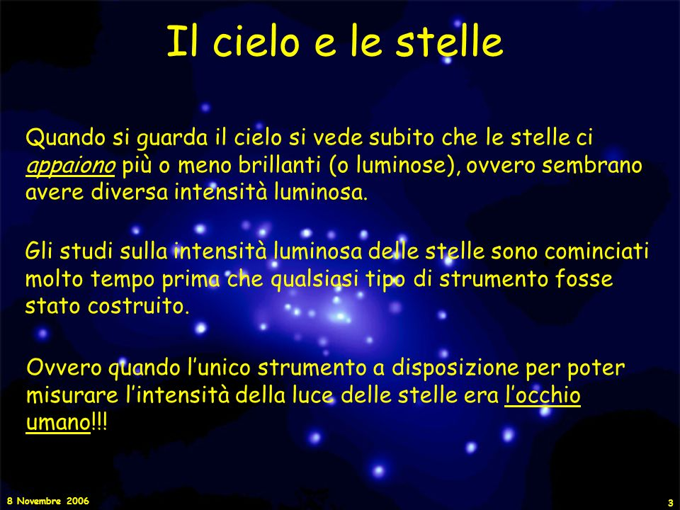 Il cielo e le stelle