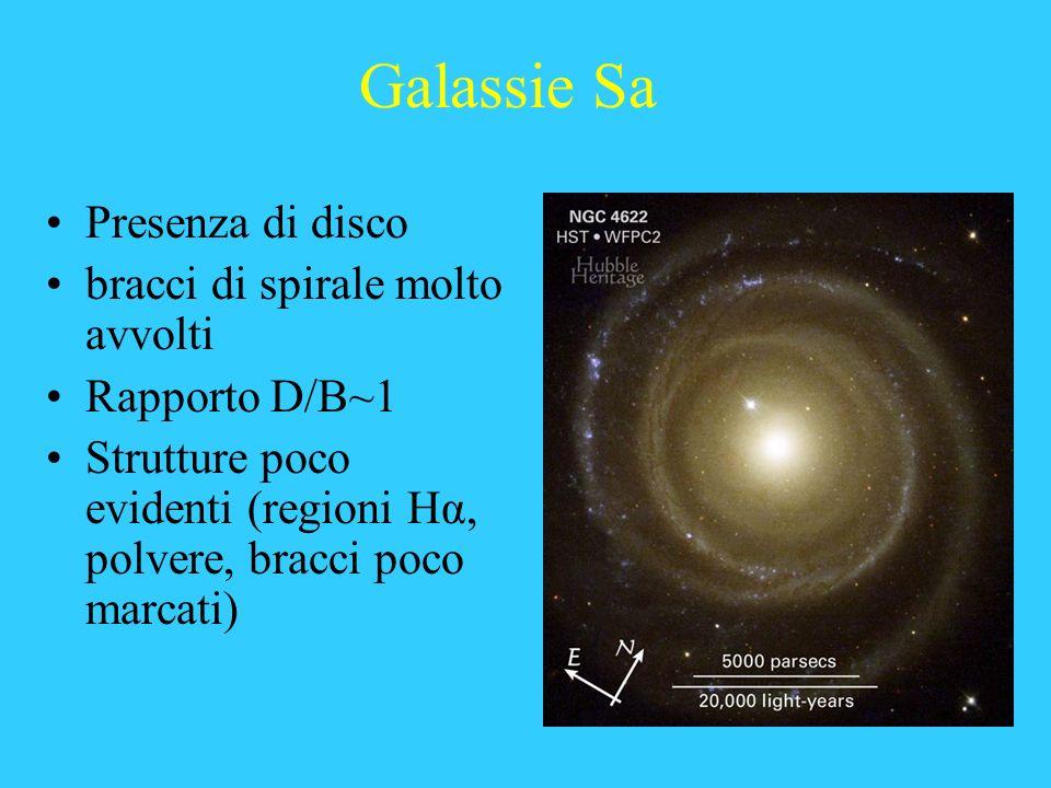 Galassie Sa Presenza di disco bracci di spirale molto avvolti