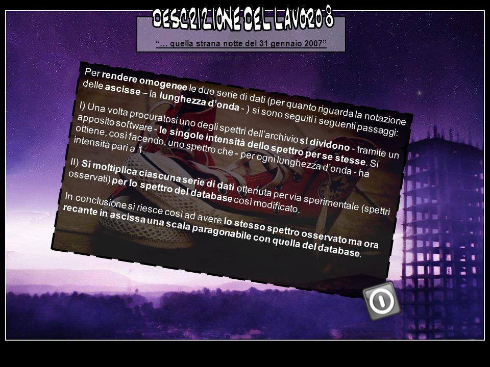 … quella strana notte del 31 gennaio 2007 descrizione del lavoro 8