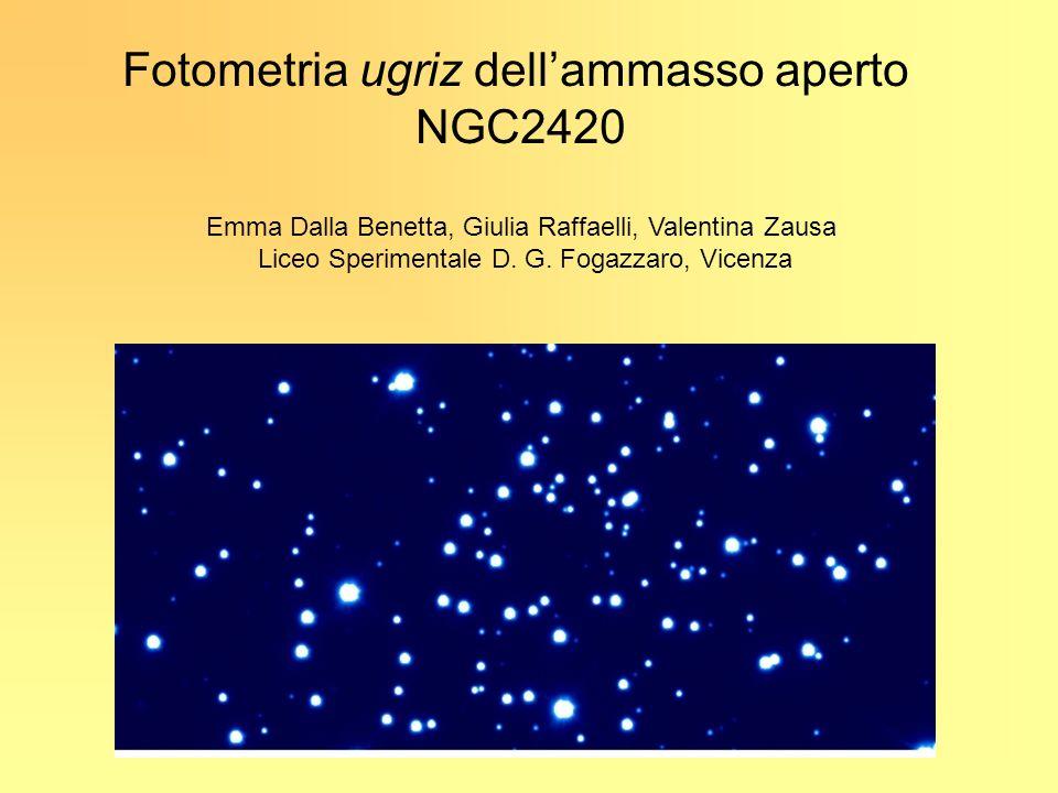 Fotometria ugriz dell'ammasso aperto NGC2420