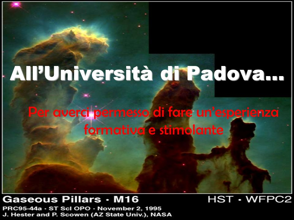 All'Università di Padova…