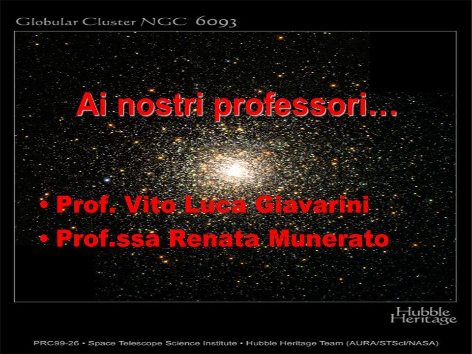 Ai nostri professori… Prof. Vito Luca Giavarini