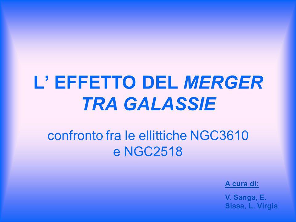 L' EFFETTO DEL MERGER TRA GALASSIE