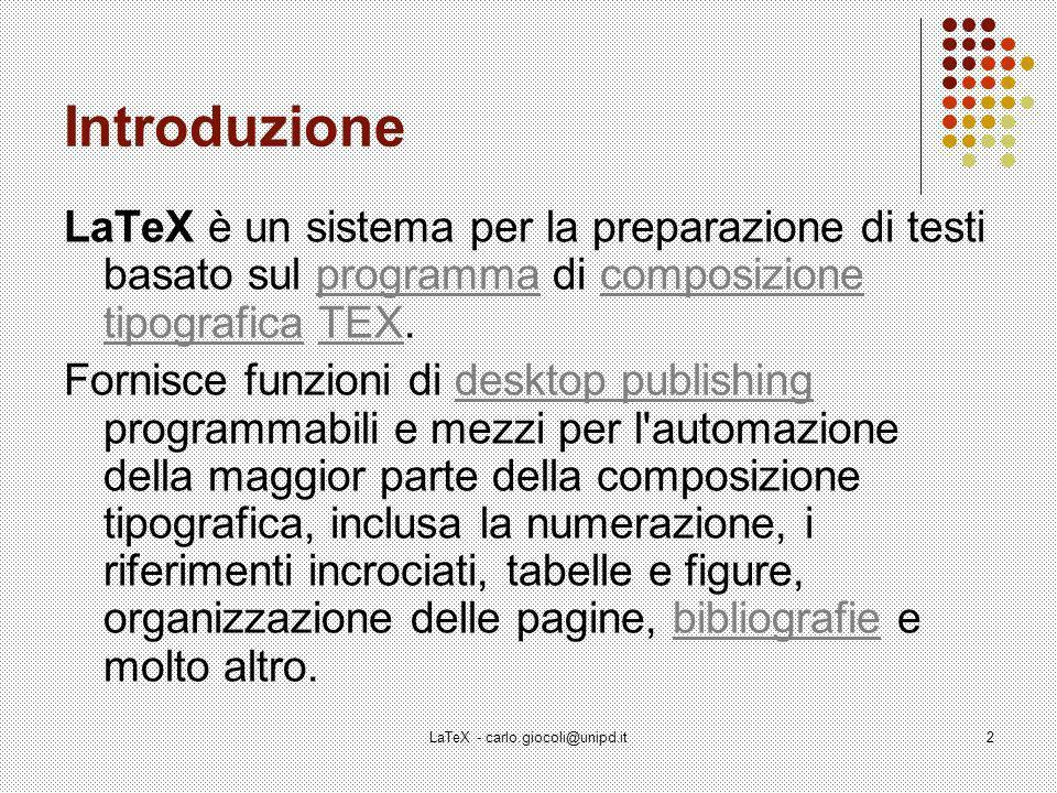 LaTeX - carlo.giocoli@unipd.it