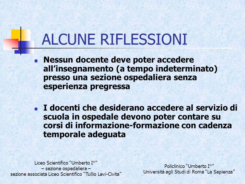 MDDM ALCUNE RIFLESSIONI.