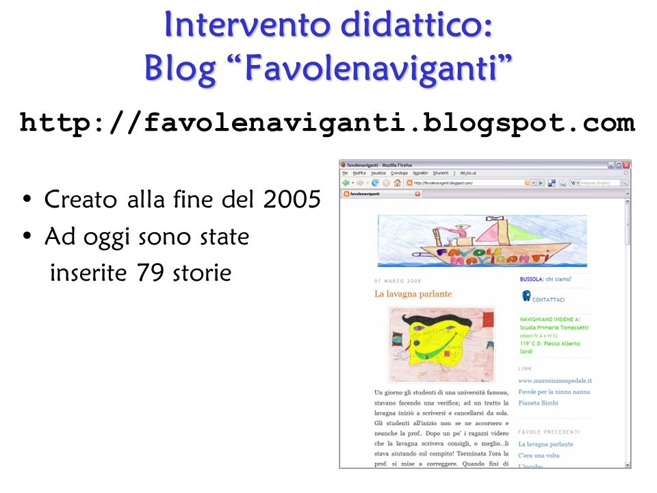 Intervento didattico: Blog Favolenaviganti