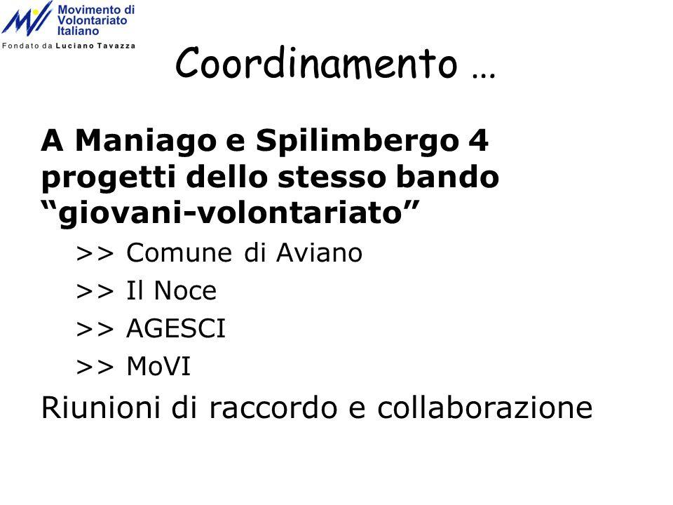 Coordinamento … A Maniago e Spilimbergo 4 progetti dello stesso bando giovani-volontariato >> Comune di Aviano.
