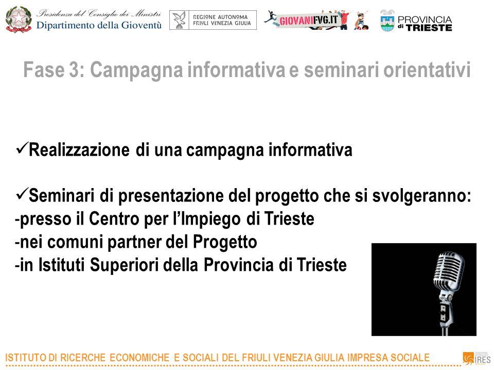 Fase 3: Campagna informativa e seminari orientativi