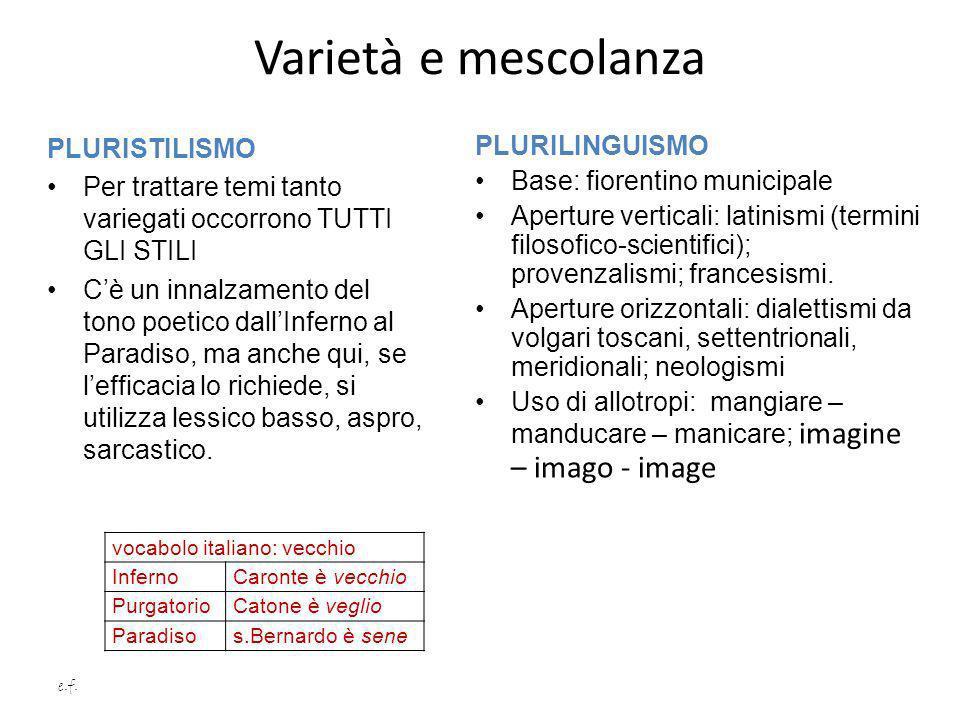 Varietà e mescolanza PLURISTILISMO