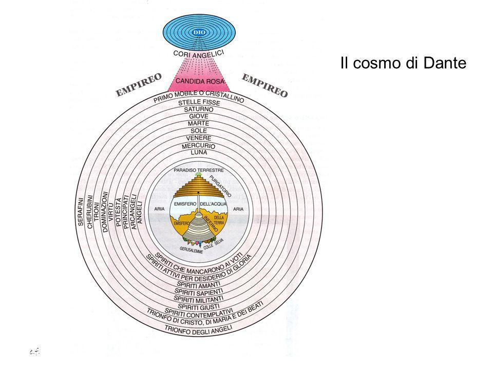 Il cosmo di Dante e.f.
