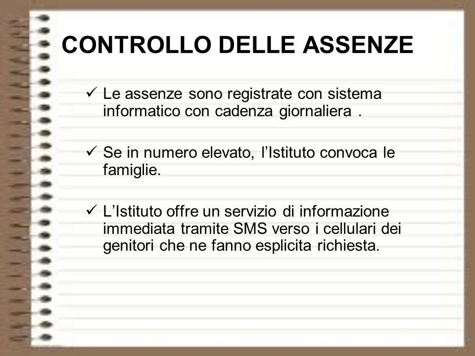 CONTROLLO DELLE ASSENZE