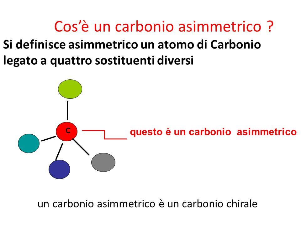 Cos'è un carbonio asimmetrico