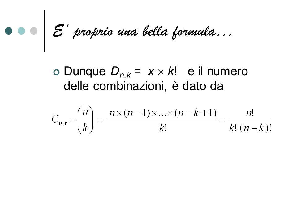 E' proprio una bella formula…