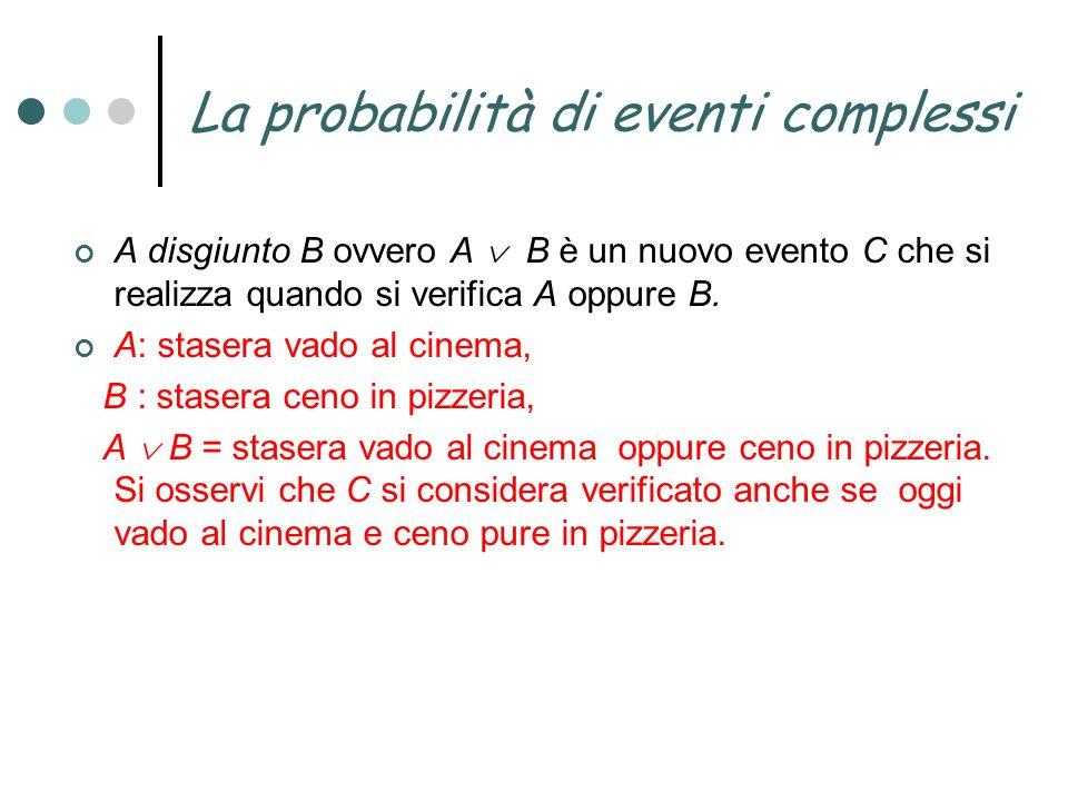 La probabilità di eventi complessi