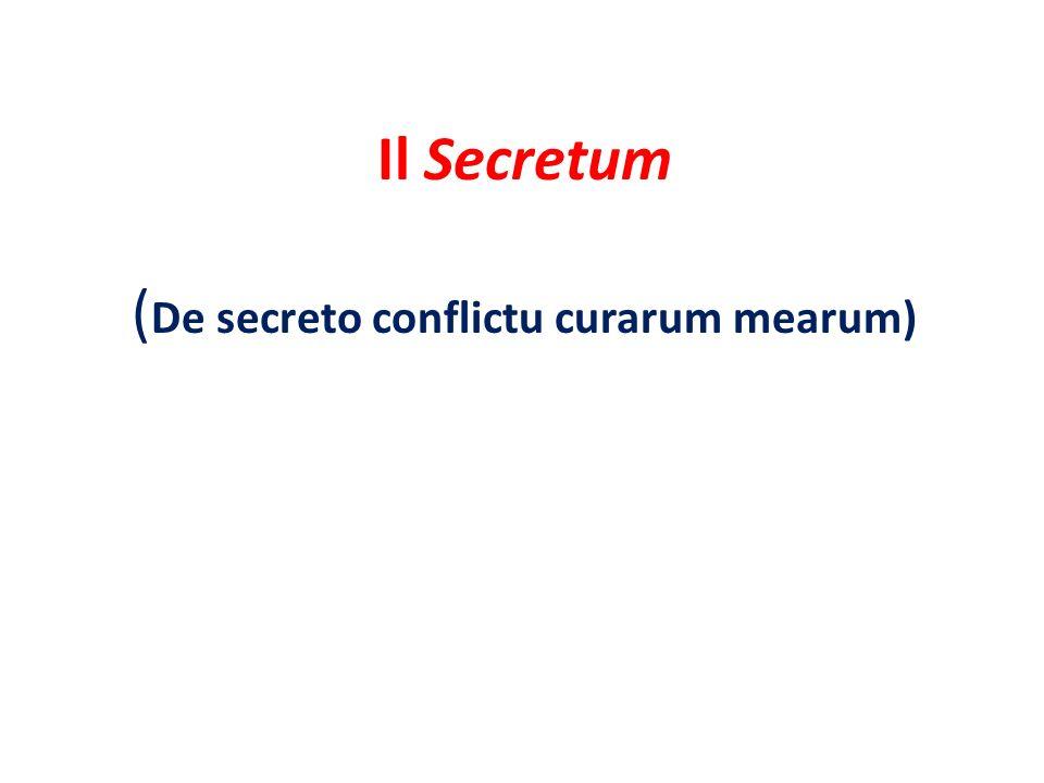 Il Secretum (De secreto conflictu curarum mearum)