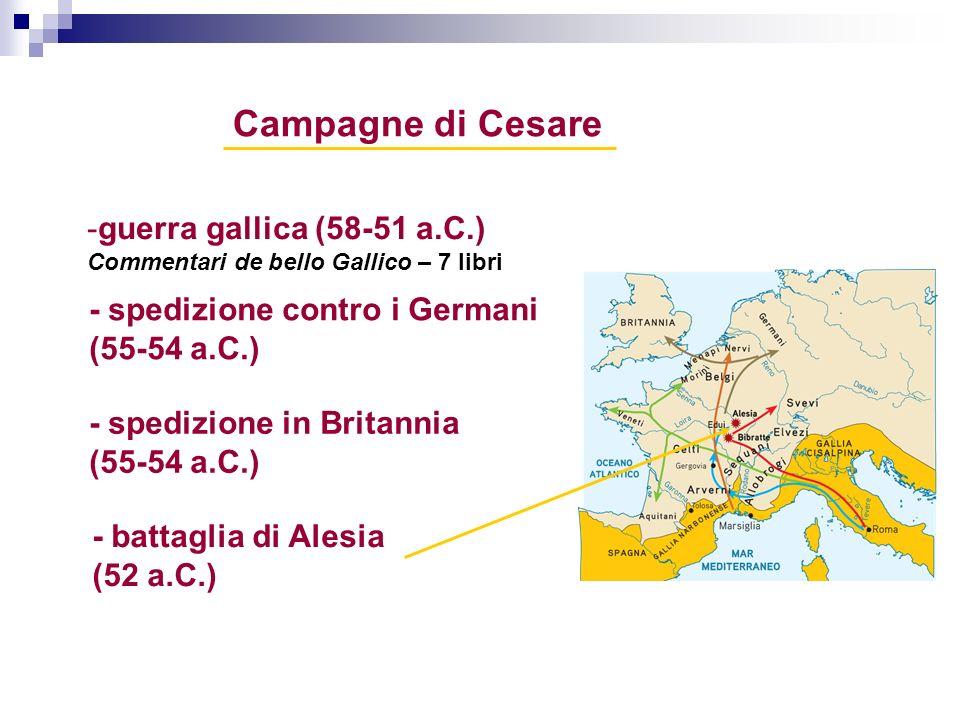 Campagne di Cesare guerra gallica (58-51 a.C.)