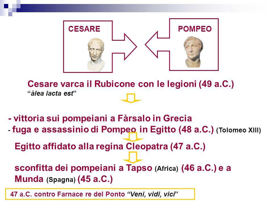 Cesare varca il Rubicone con le legioni (49 a.C.)