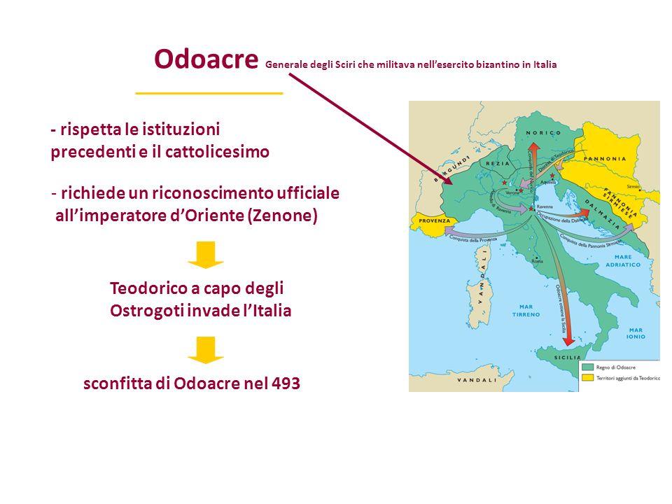 Odoacre Generale degli Sciri che militava nell'esercito bizantino in Italia