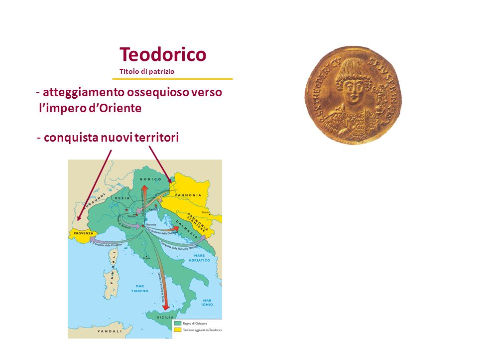 Teodorico atteggiamento ossequioso verso l'impero d'Oriente
