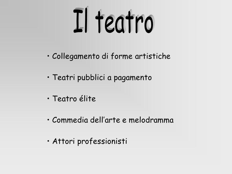 Il teatro • Collegamento di forme artistiche