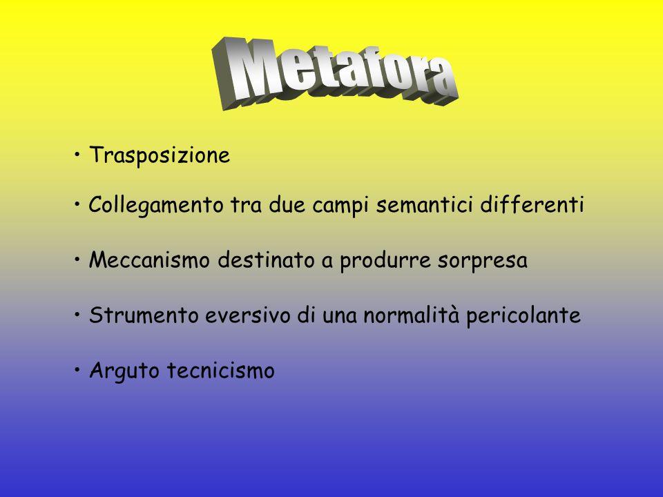 Metafora • Trasposizione