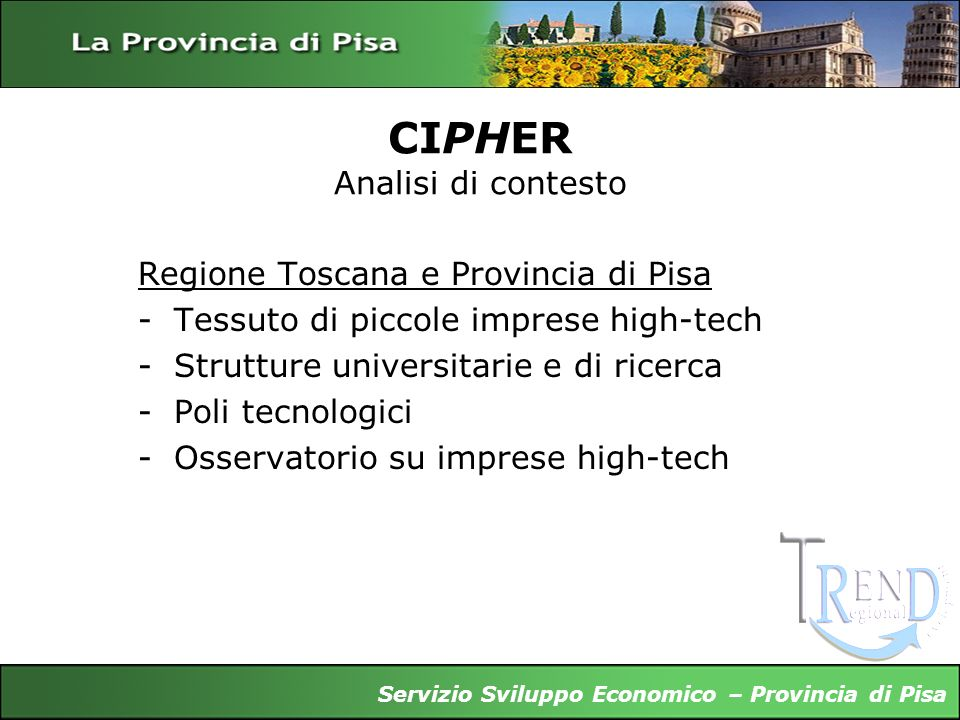 CIPHER Analisi di contesto