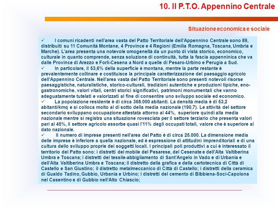 10. Il P.T.O. Appennino Centrale