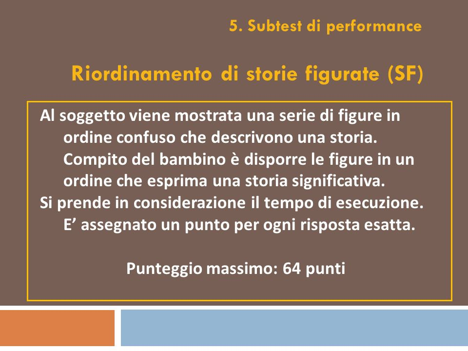 5. Subtest di performance