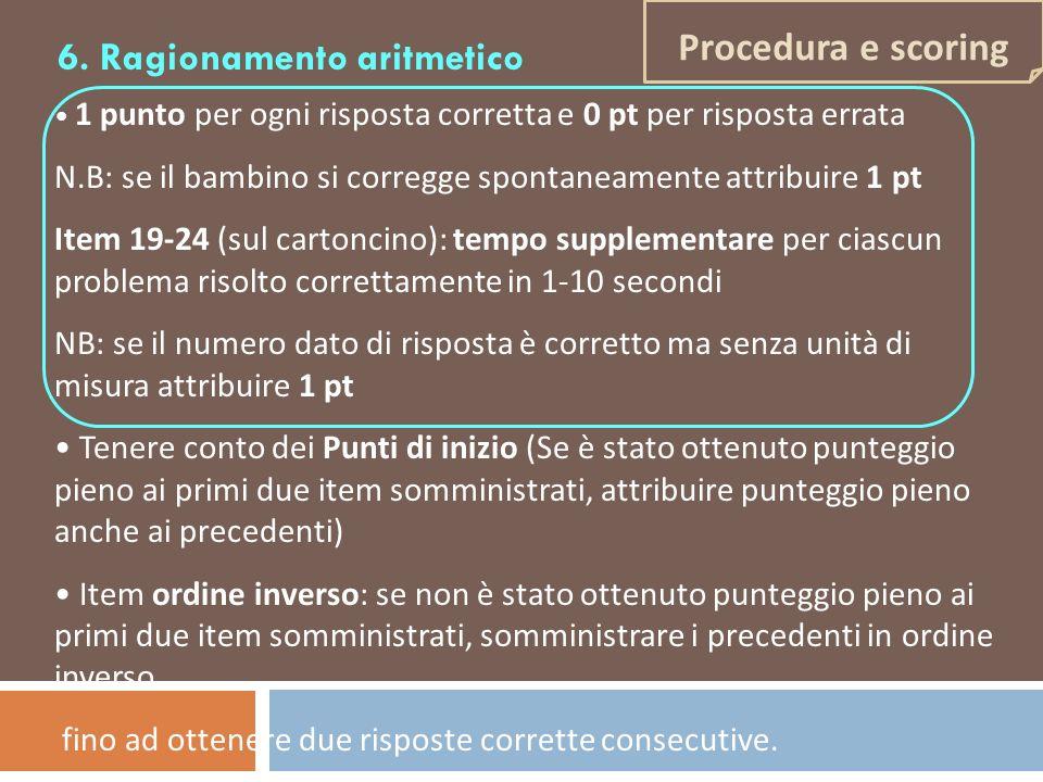6. Ragionamento aritmetico