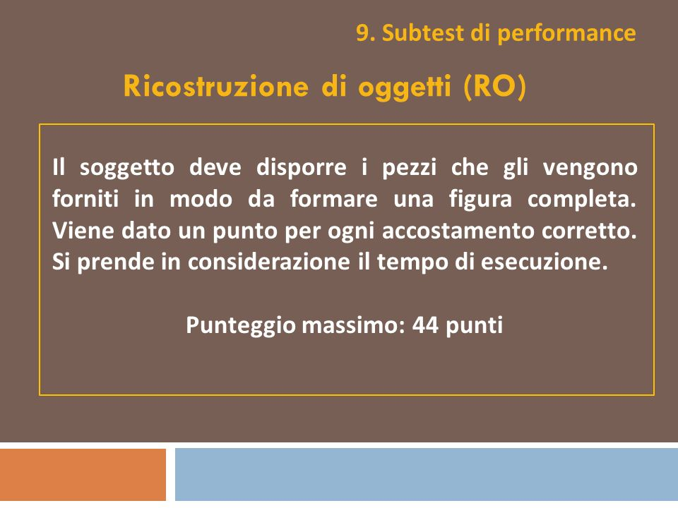 9. Subtest di performance