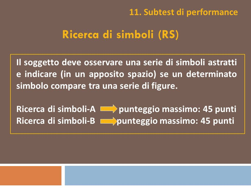 11. Subtest di performance