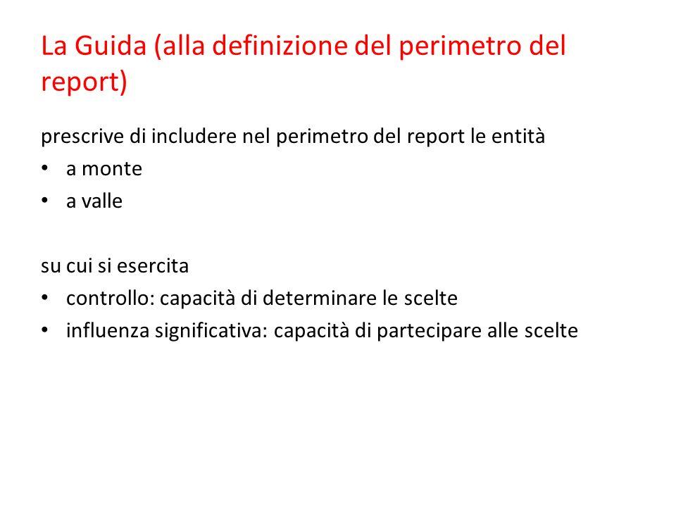 La Guida (alla definizione del perimetro del report)