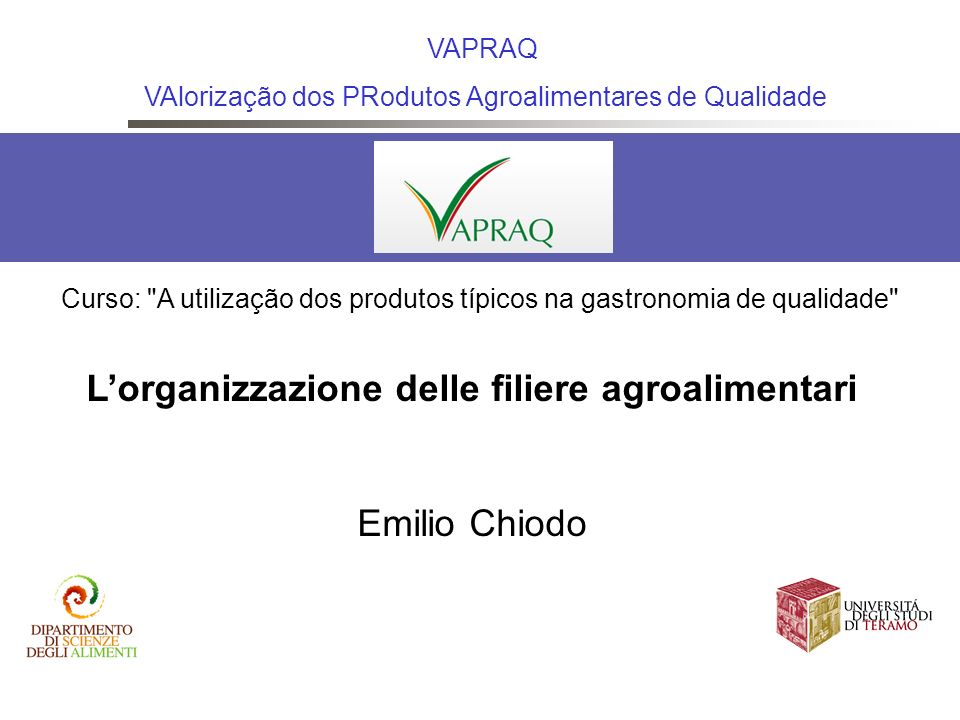 L'organizzazione delle filiere agroalimentari