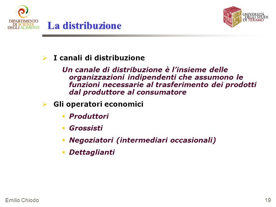 La distribuzione I canali di distribuzione