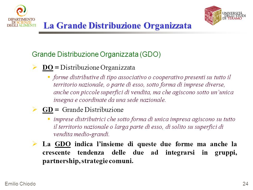 La Grande Distribuzione Organizzata