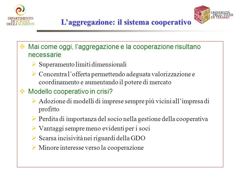 L'aggregazione: il sistema cooperativo