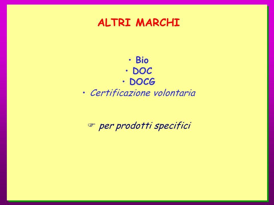 ALTRI MARCHI Bio DOC DOCG Certificazione volontaria