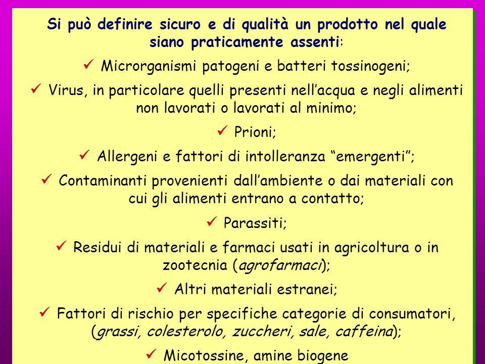  Microrganismi patogeni e batteri tossinogeni;