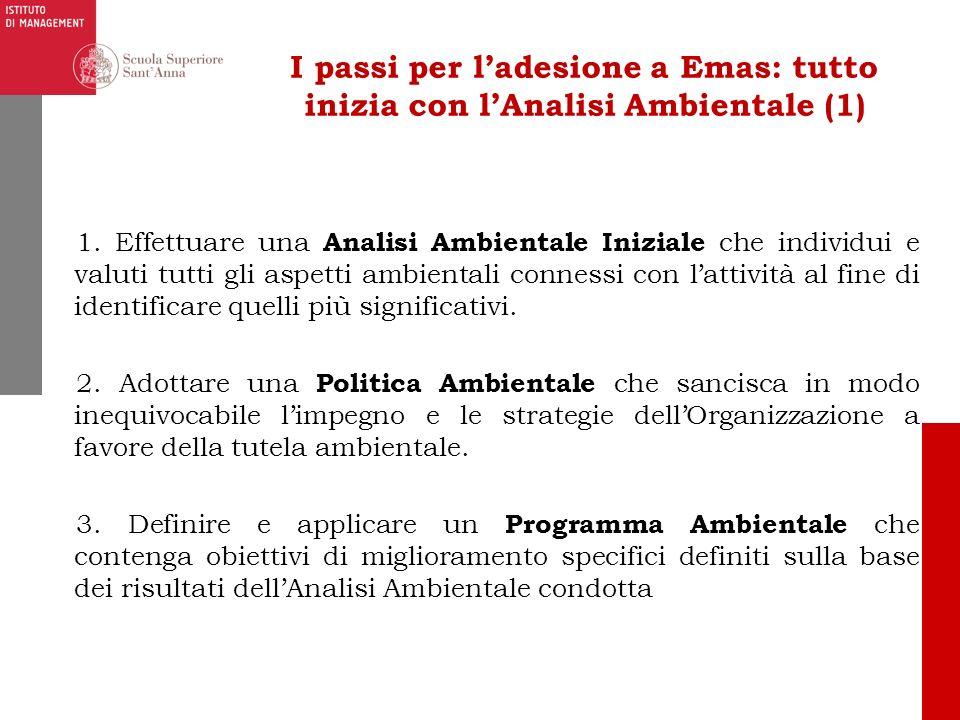 I passi per l'adesione a Emas: tutto inizia con l'Analisi Ambientale (1)