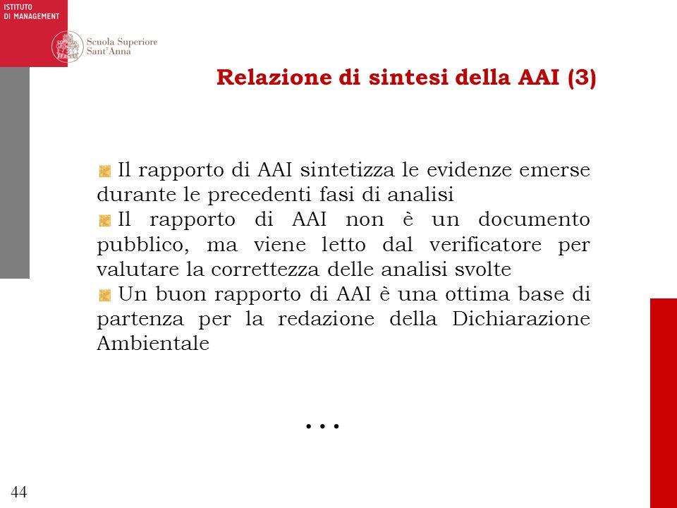 Relazione di sintesi della AAI (3)