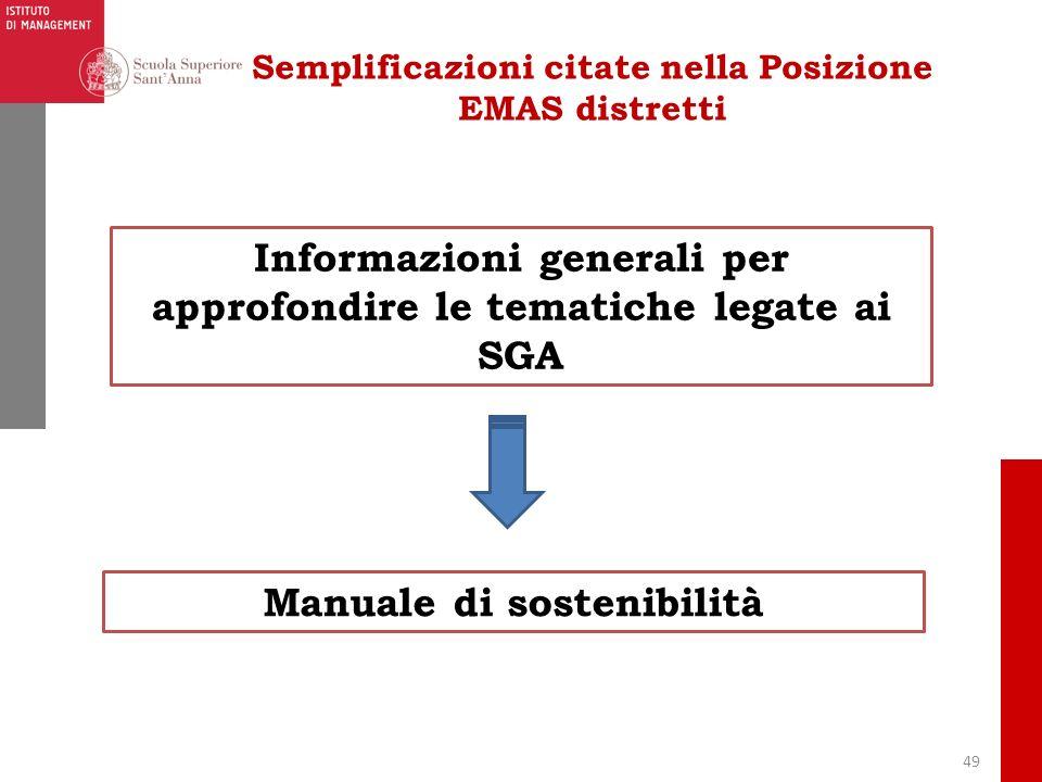 Informazioni generali per approfondire le tematiche legate ai SGA